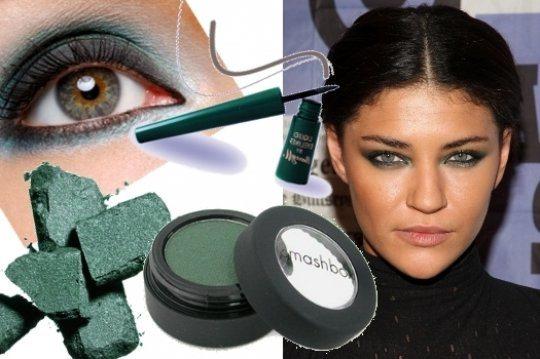 makeup век с изумрудными тенями