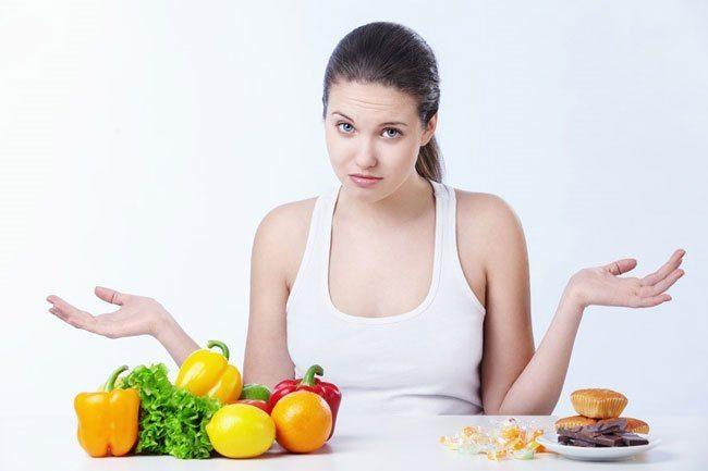 употребление полезных продуктов и отказ от сладостей