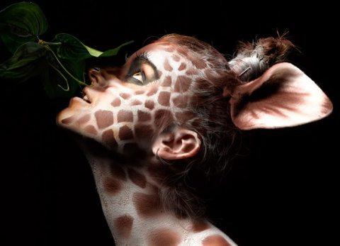 девушка жираф