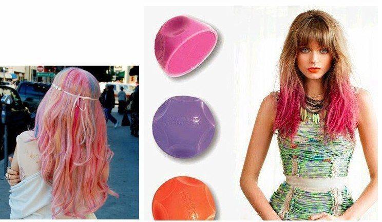 цветные пряди на голове