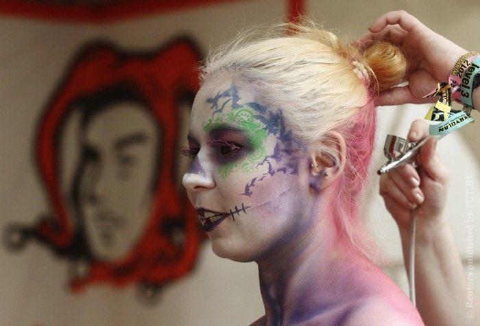 рисование на теле и лице