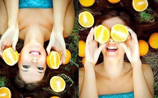 девушки с апельсинами