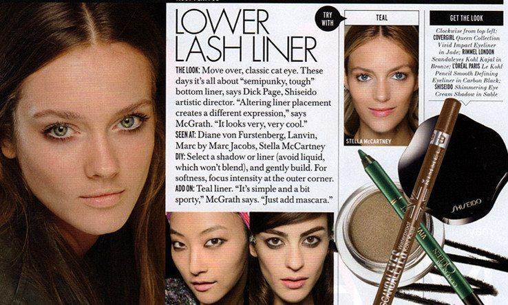 страница модного журнала elle