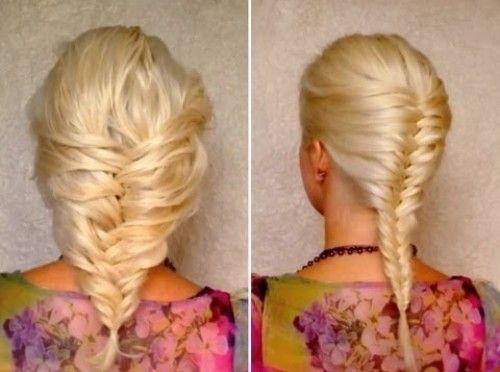 коса заплетенная наоборот