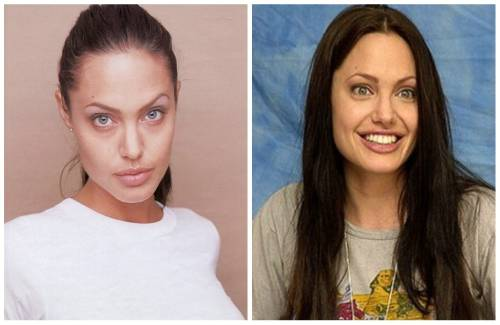 Angelina Jolie без мейк апа
