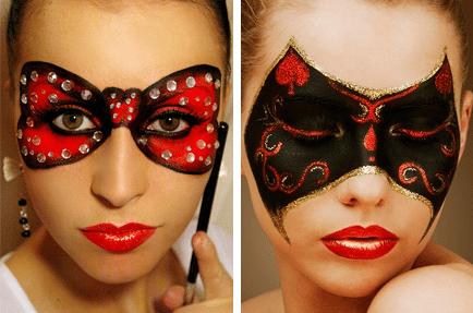 нарисованные маски