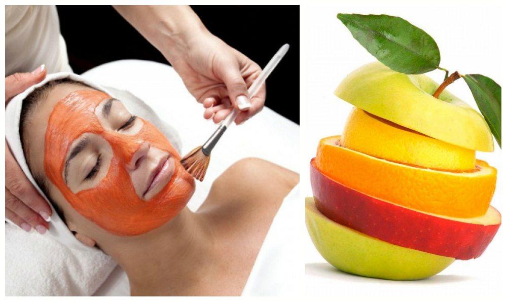 процедура пилинга фруктами в салоне