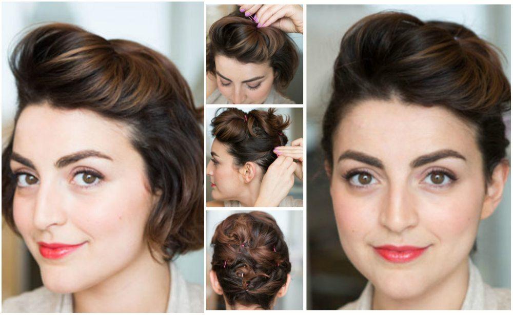 Прически собранные волосы фото на короткие волосы