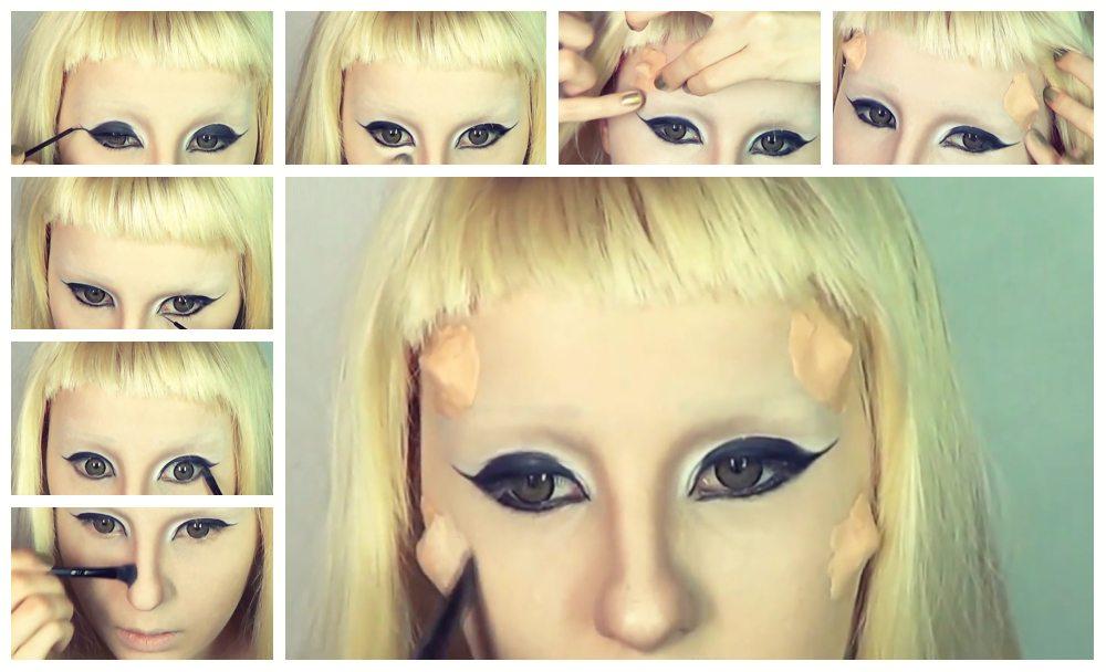 схема создания макияжа- второй этап