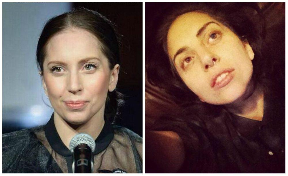 Lady Gaga без декоративной косметики