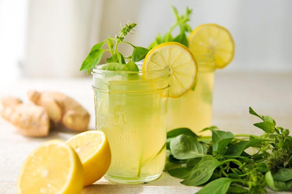 вода с лимончиком и базиликом