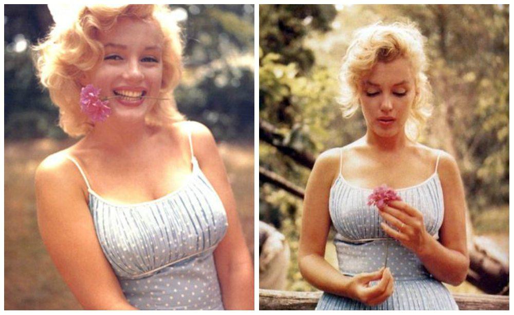 Marilyn Monroe в голубом платье
