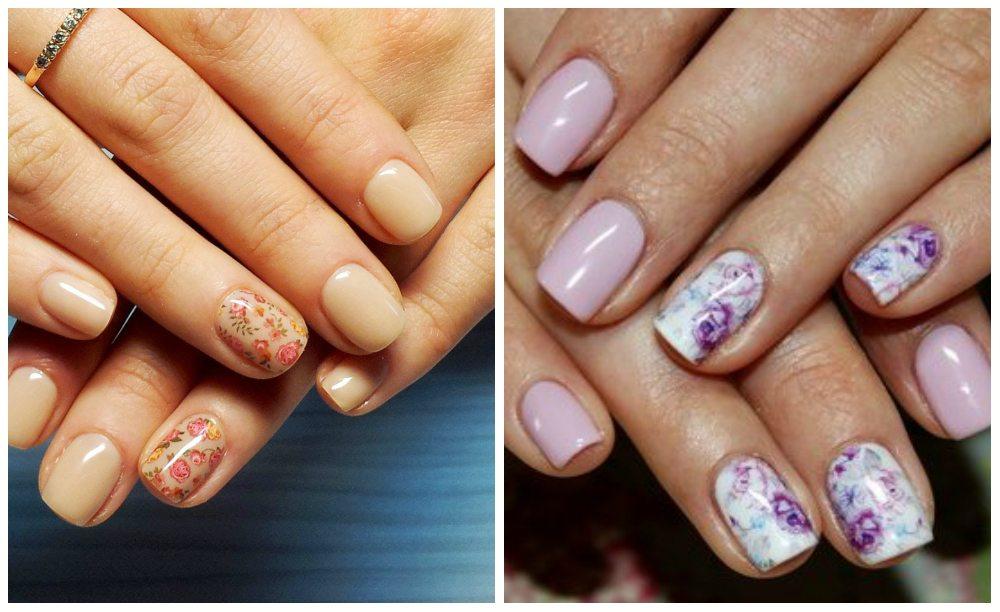 нежный nail art