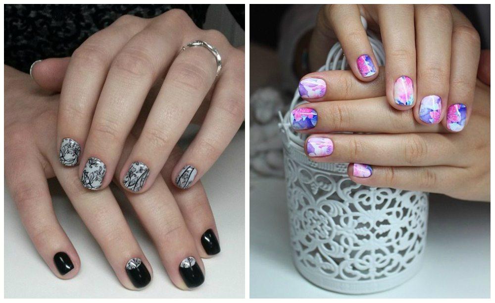 nail дизайн с термо-пленкой