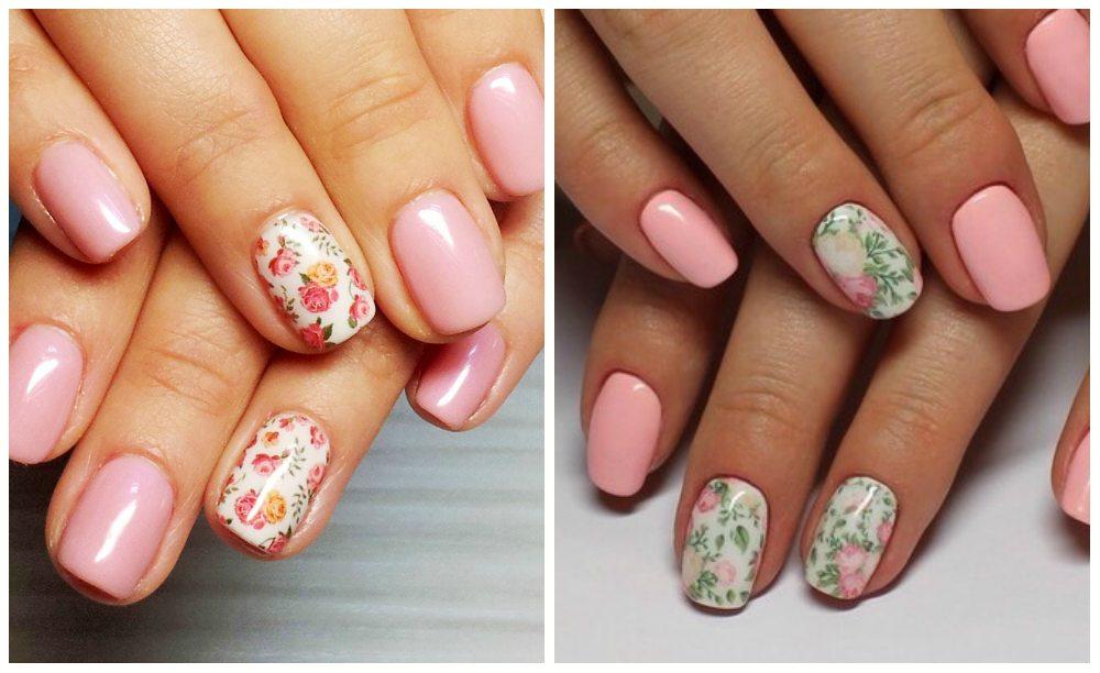 nail art в розовых тонах