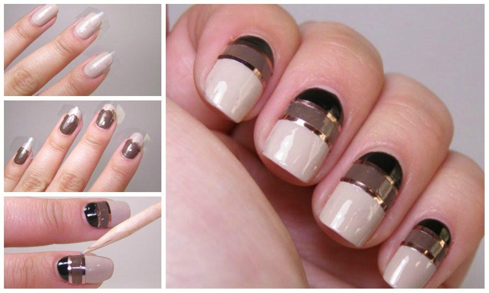 кофейный nail art