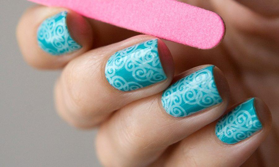 nail art в голубом цвете