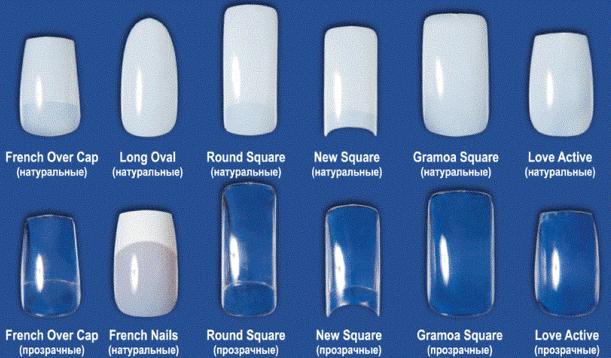 разнообразие форм и размеров подложек