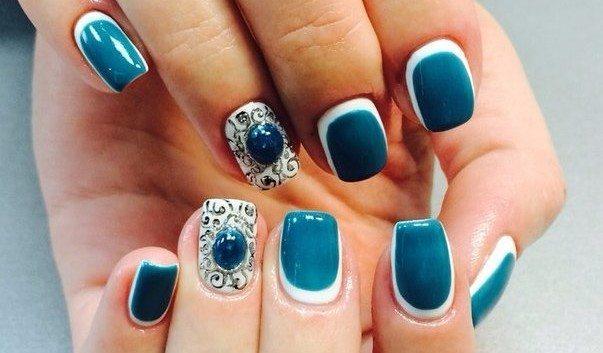 nail art в голубых тонах