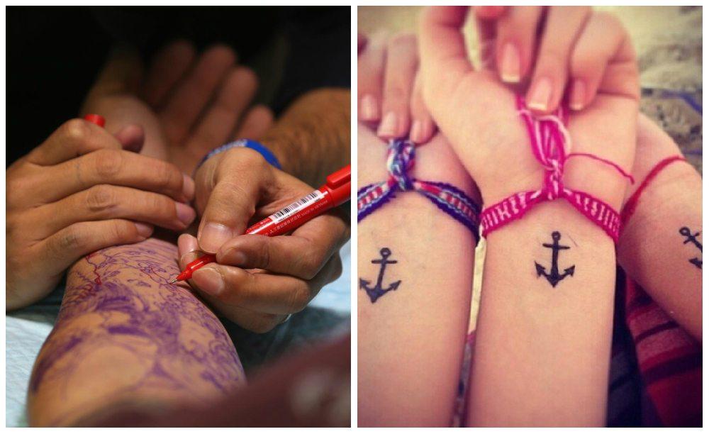 Временные татуировки картинки