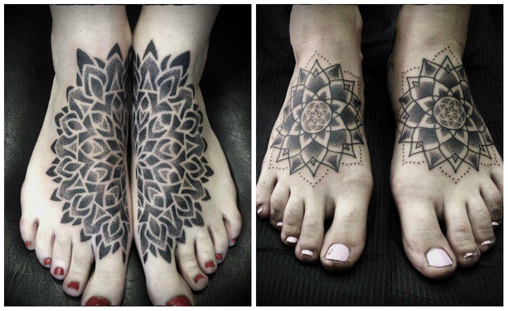 tattoo на ногах