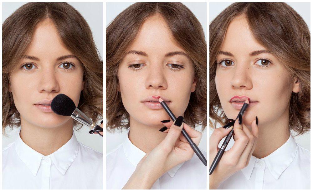инструкция нанесения косметики