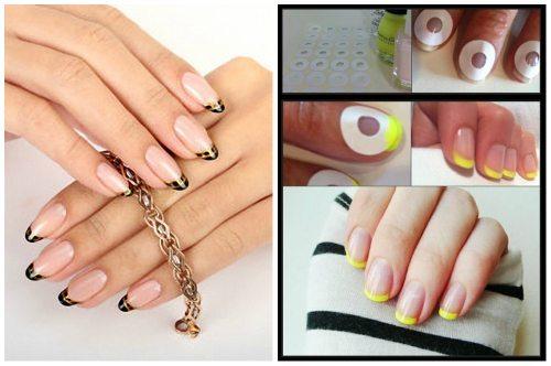 салатовый и черно-золотой nail дизайн