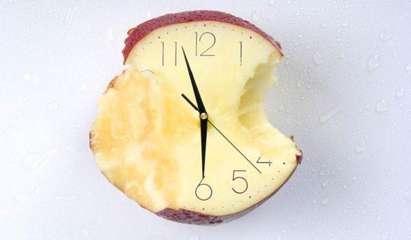 надкусанное яблочко