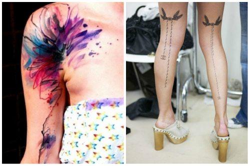 цветное и черно-белое tatoo