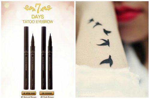 черный и коричневый карандаши