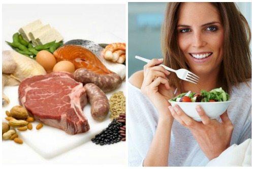 белковая и овощная пища