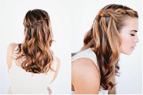 готовая коса-водопад