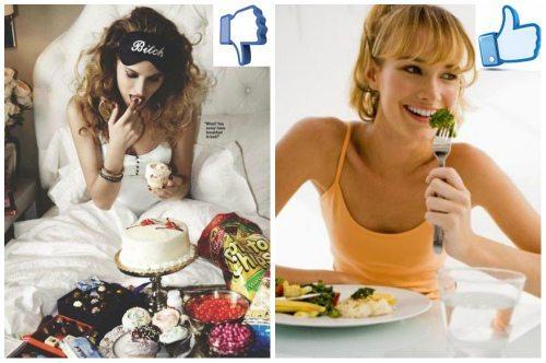 неправильное и правильное питание