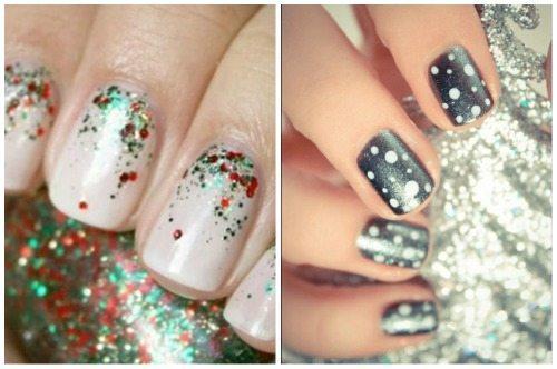 новогодний nail art