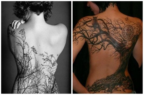 растительный орнамент на спине