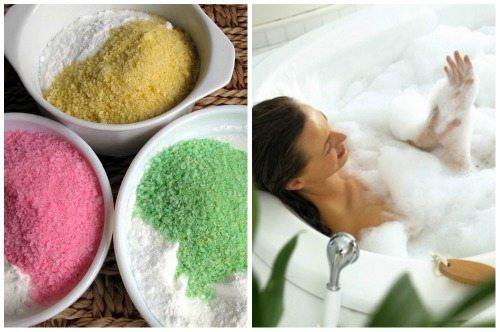 разные наполнители для солевых ванн