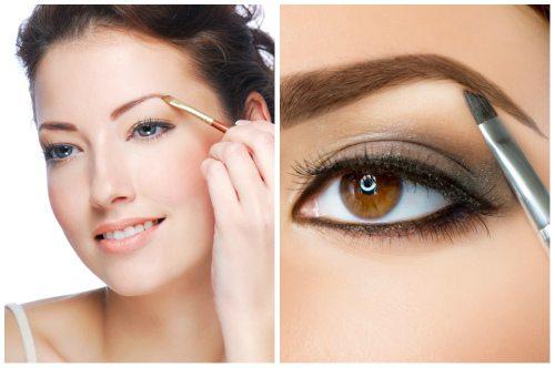 make-up с помощью теней
