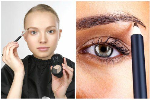 макияж тенями и карандашом