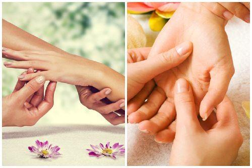 массирование рук