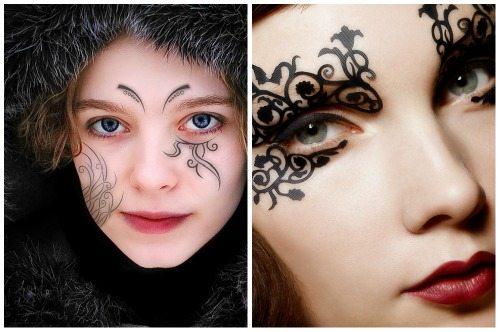 варианты тату на лице