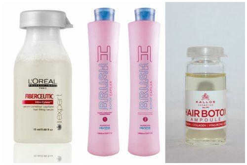 Fiberceutic, H-brash botox capilar и Kallos Hair Botox