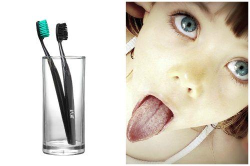 массирование зубной щеткой
