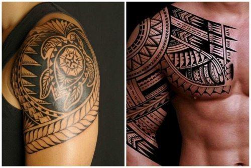 мужские полинезийские татуировки