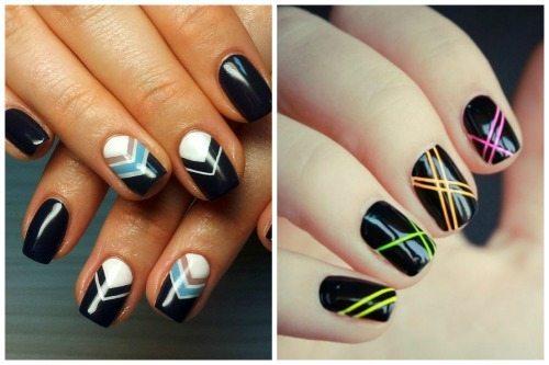 nail дизайн с полосками