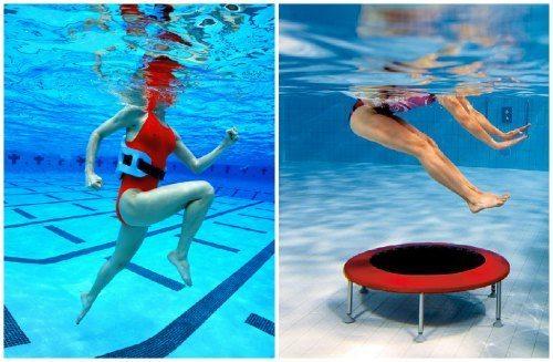 прыжки и бег в воде