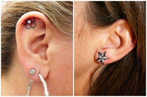 татуированная мочка и кончик