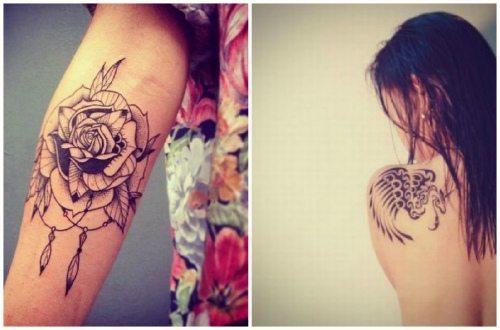 татуированная рука и лопатка