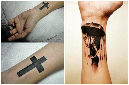 татуировки в черном цвете