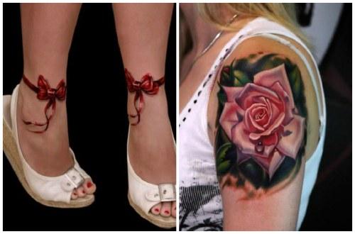 3 d татуировки для девушек