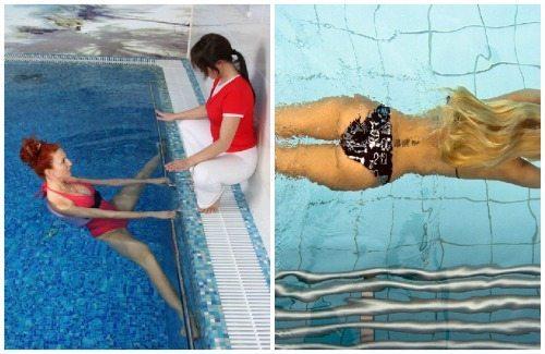 занятия в воде